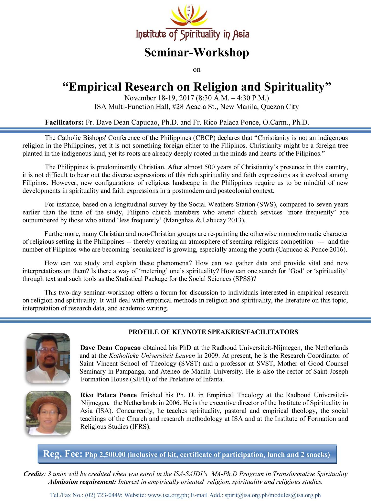 """Empirical Research on Spirituality and Religion"""