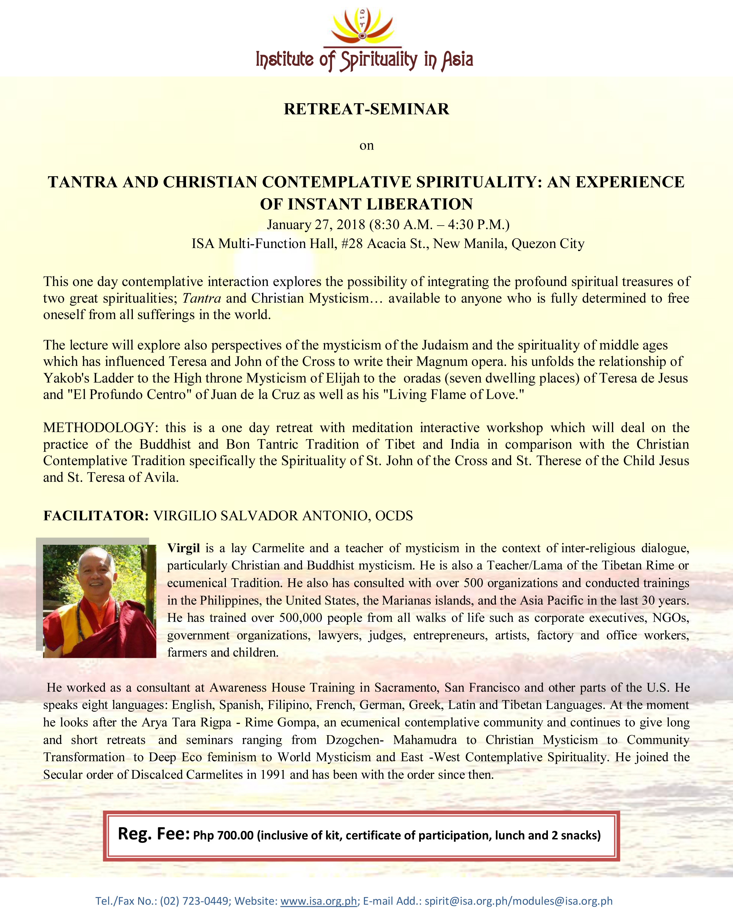 """TANTRA AND CHRISTIAN CONTEMPLATIVE SPIRITUALITY"""